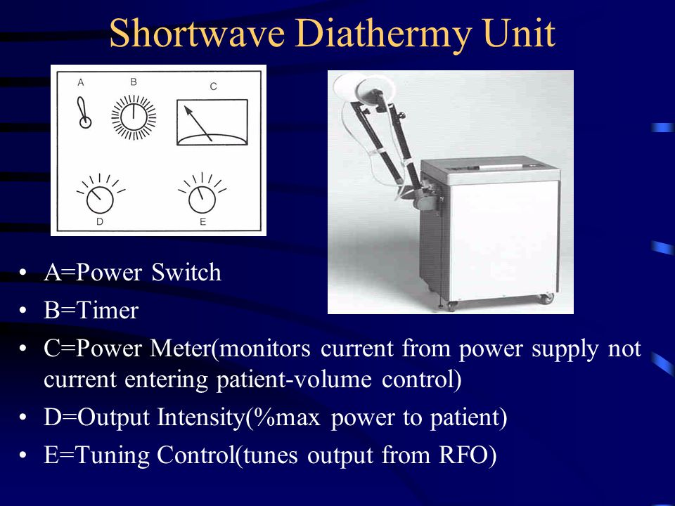 Shortwave Diathermy Unit