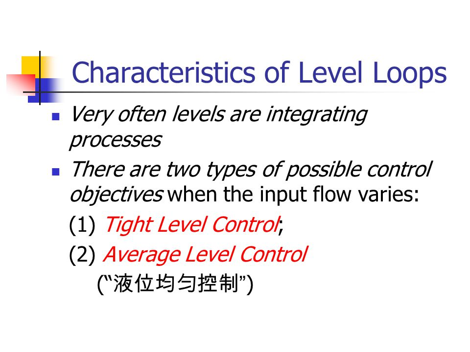 Characteristics of Level Loops