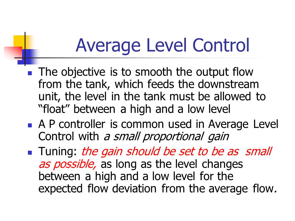 Average Level Control