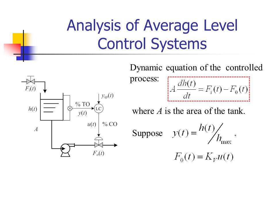 Analysis of Average Level Control Systems