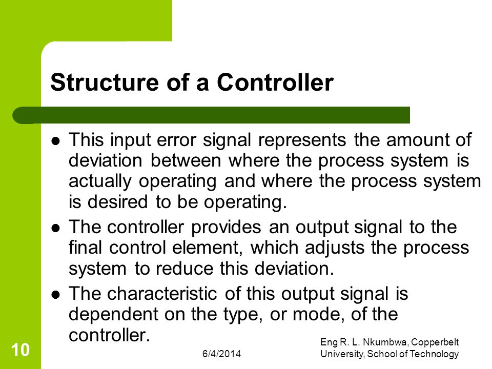 Structure of a Controller