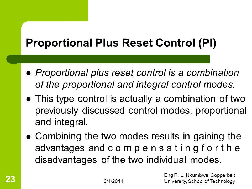 Proportional Plus Reset Control (PI)