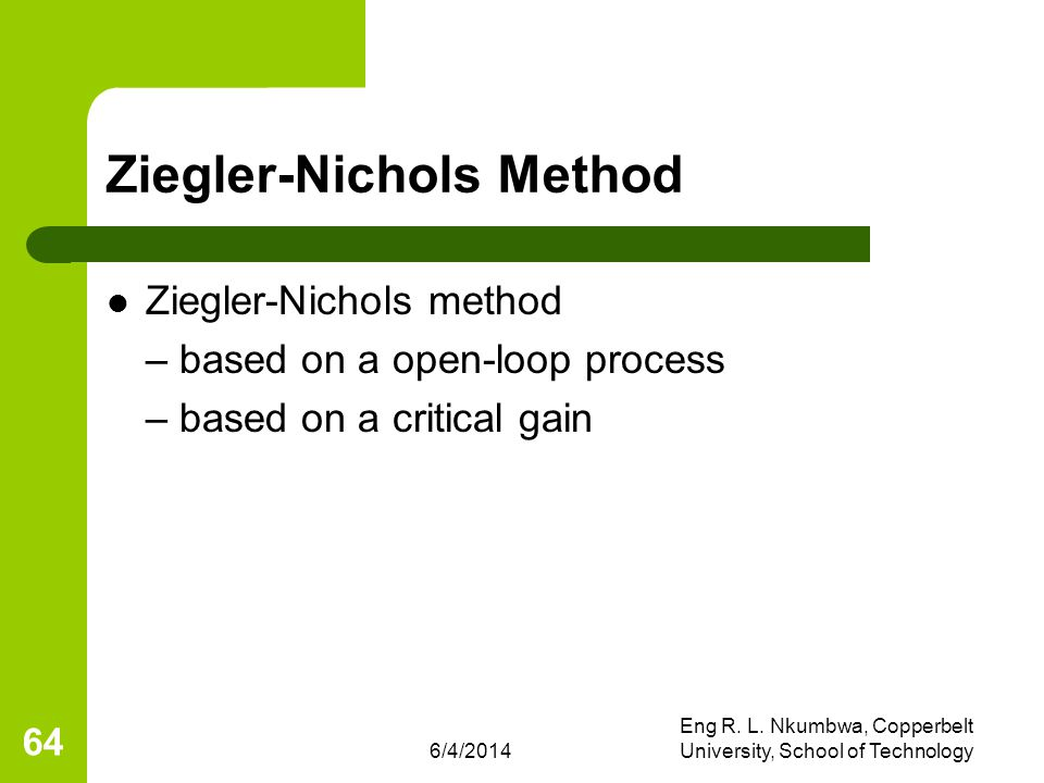 Ziegler-Nichols Method