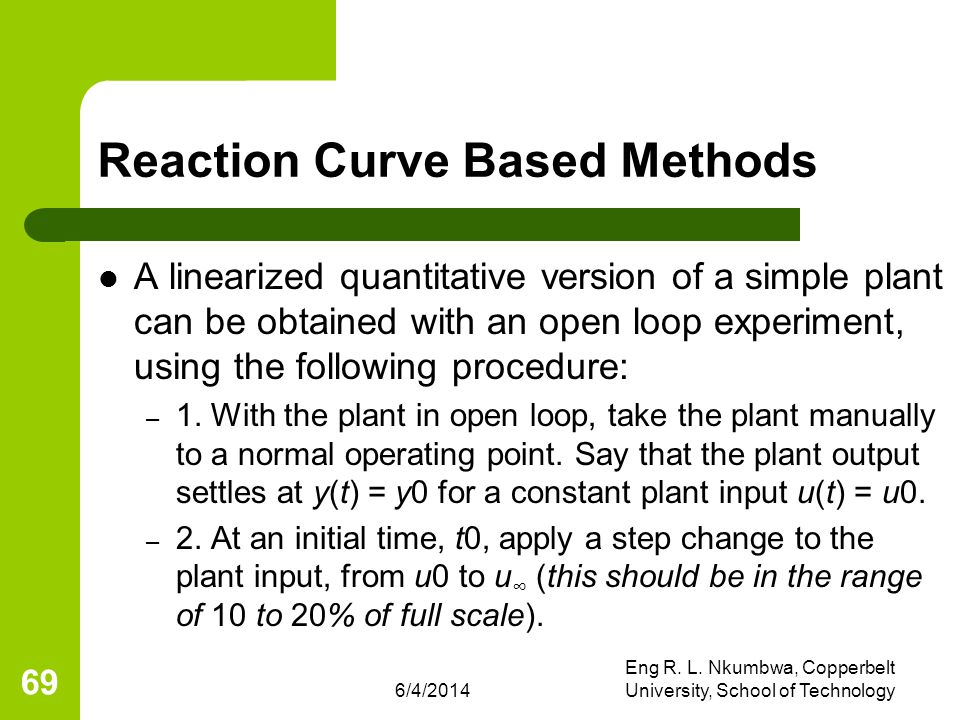 Reaction Curve Based Methods