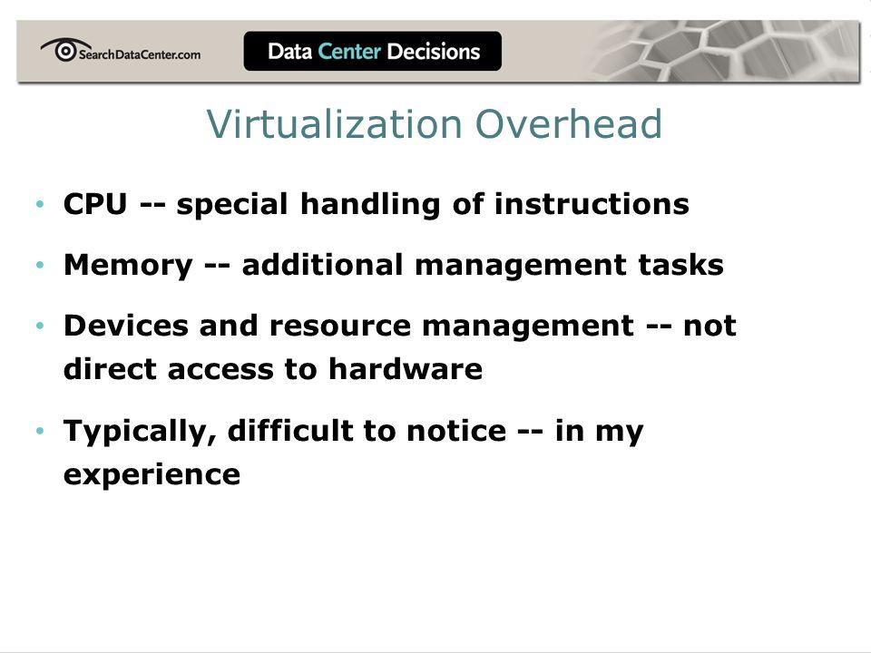 Virtualization Overhead