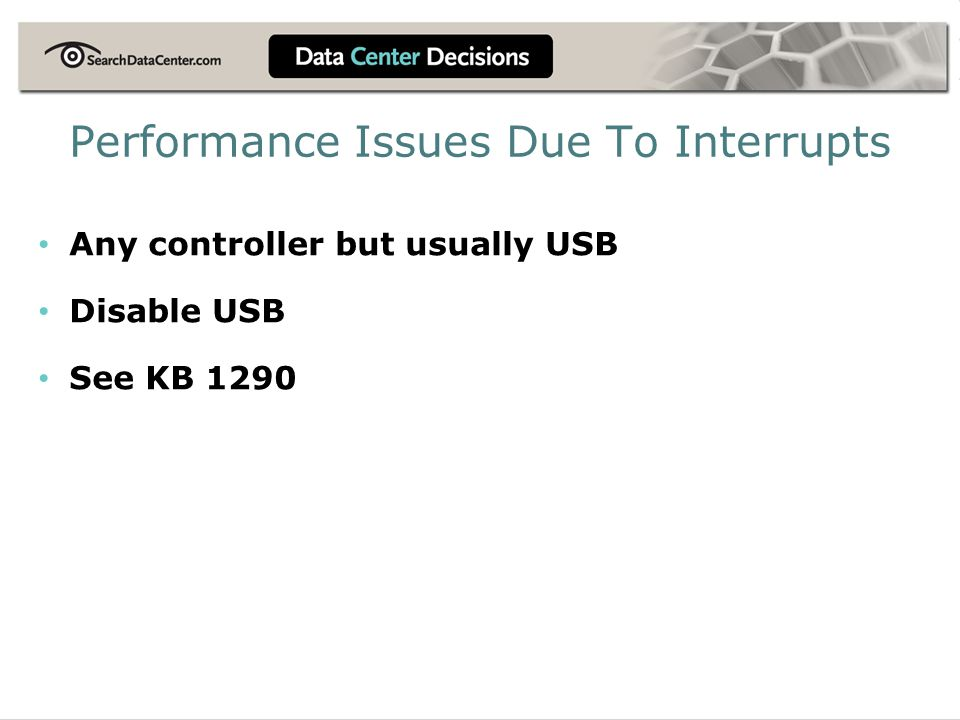 Performance Issues Due To Interrupts