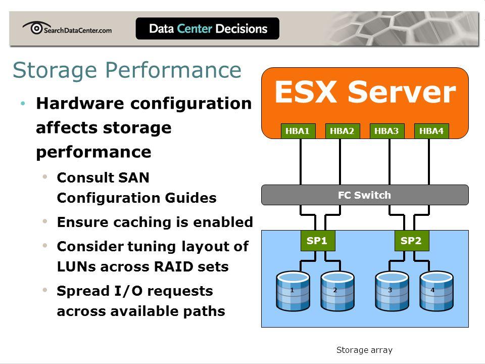 ESX Server Storage Performance
