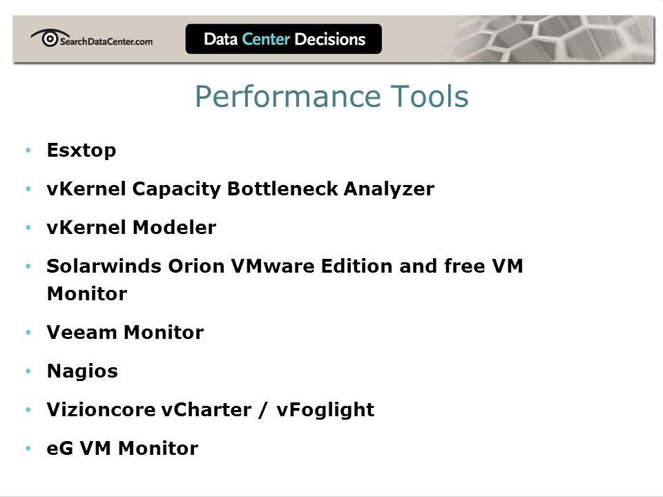 Performance Tools Esxtop vKernel Capacity Bottleneck Analyzer