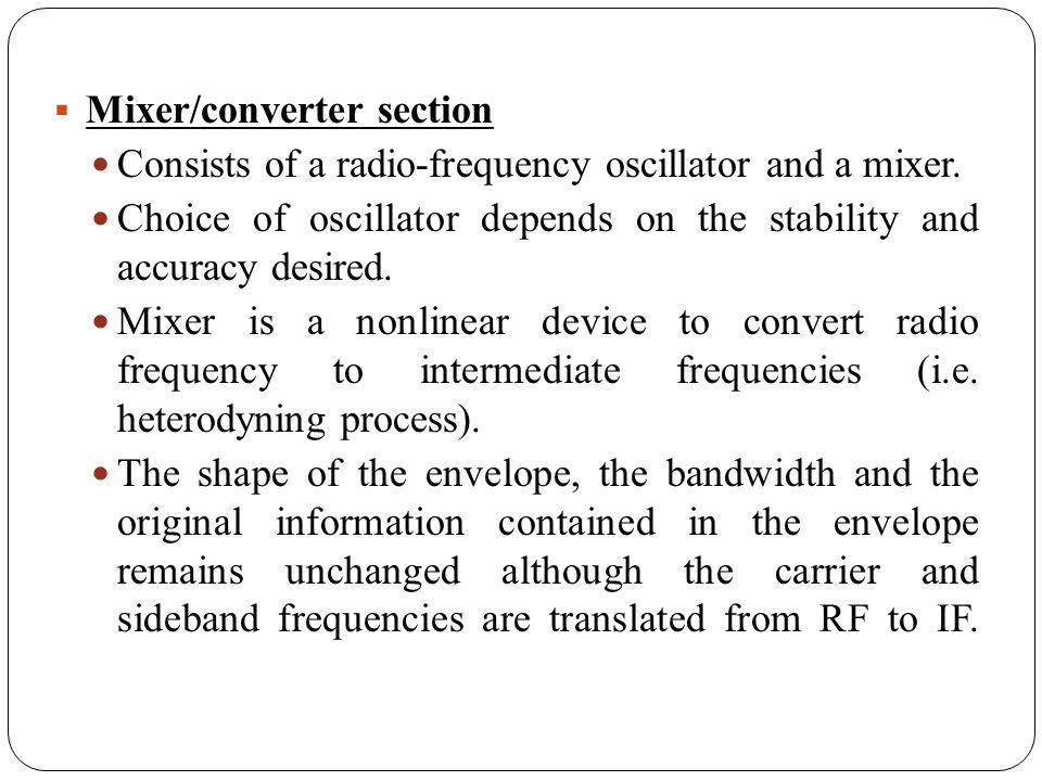 Mixer/converter section