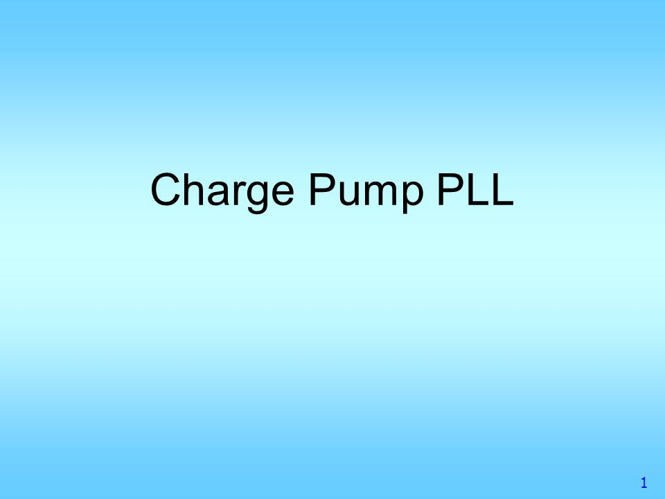 Charge Pump PLL