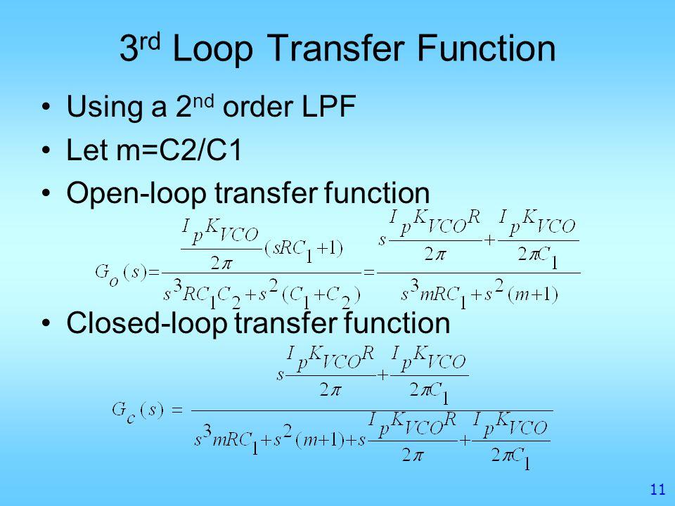 3rd Loop Transfer Function