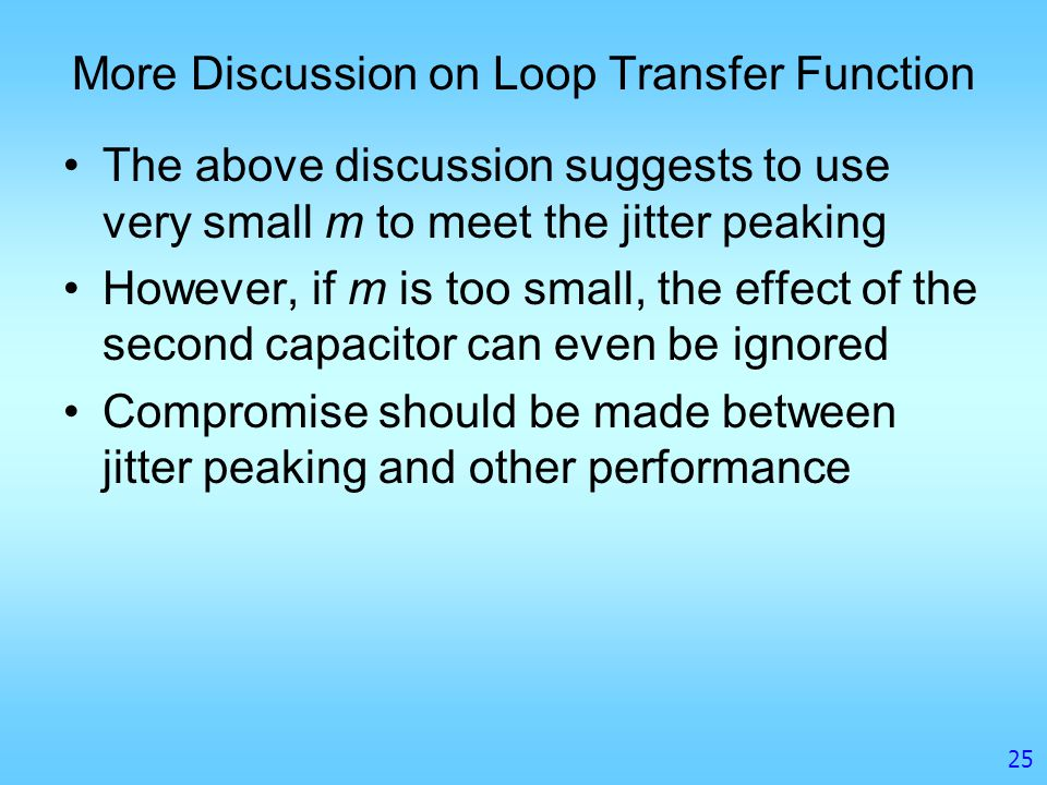 More Discussion on Loop Transfer Function