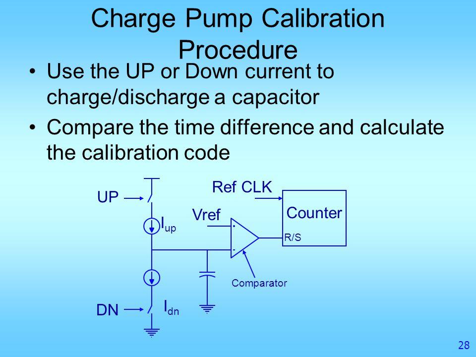 Charge Pump Calibration Procedure
