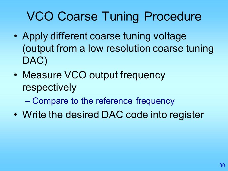 VCO Coarse Tuning Procedure