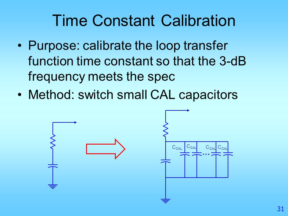 Time Constant Calibration