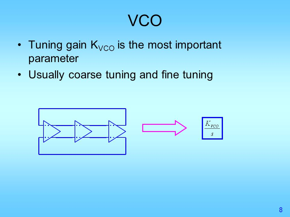 VCO Tuning gain KVCO is the most important parameter