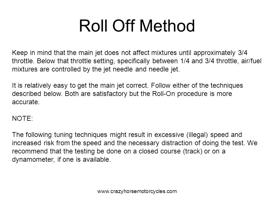 Roll Off Method