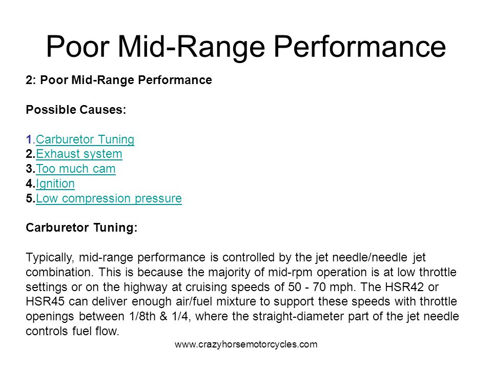 Poor Mid-Range Performance