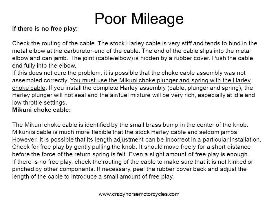 Poor Mileage
