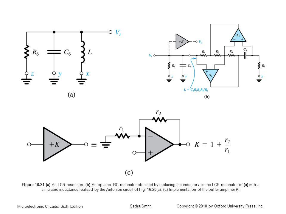 Figure 16. 21 (a) An LCR resonator