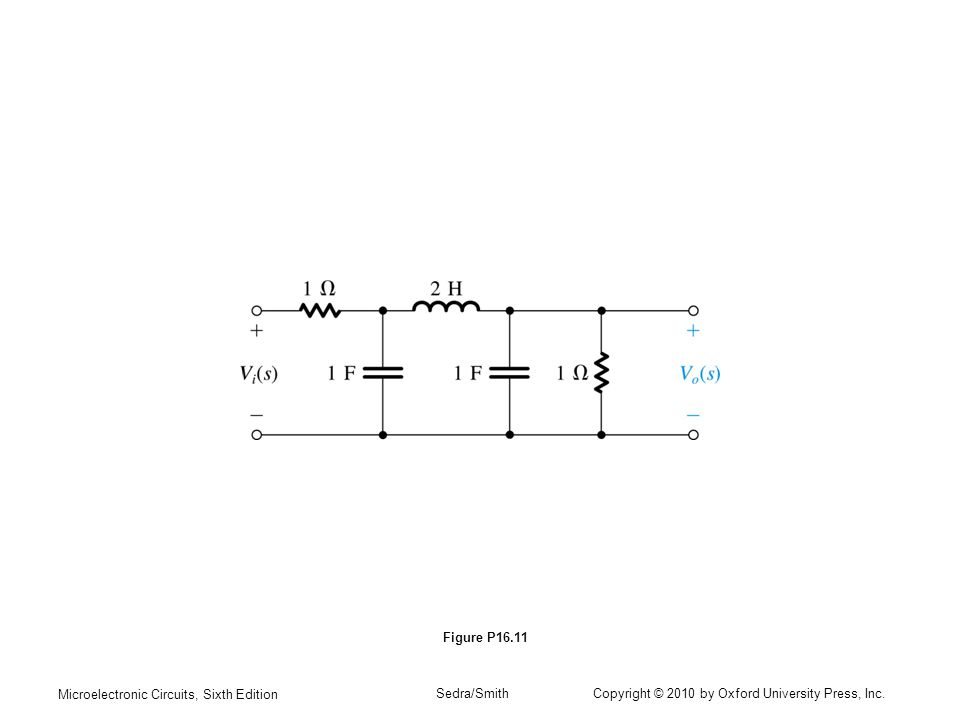 Figure P16.11 Microelectronic Circuits, Sixth Edition.