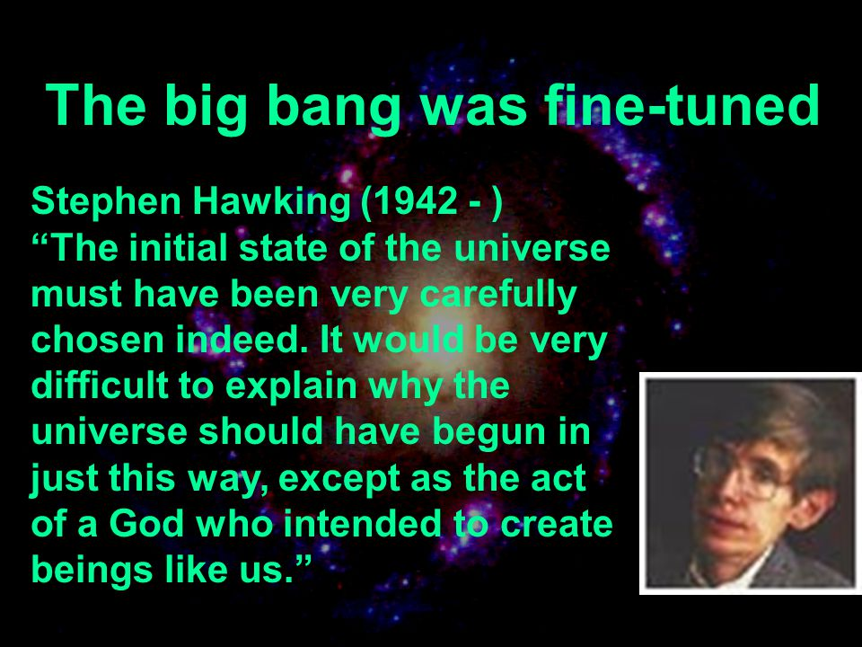 The big bang was fine-tuned