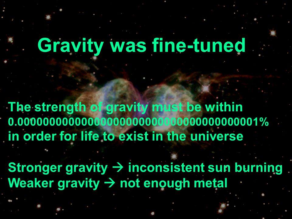 Gravity was fine-tuned