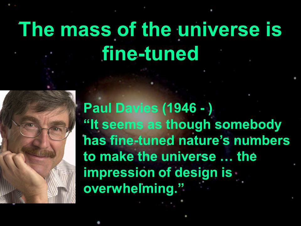 The mass of the universe is fine-tuned