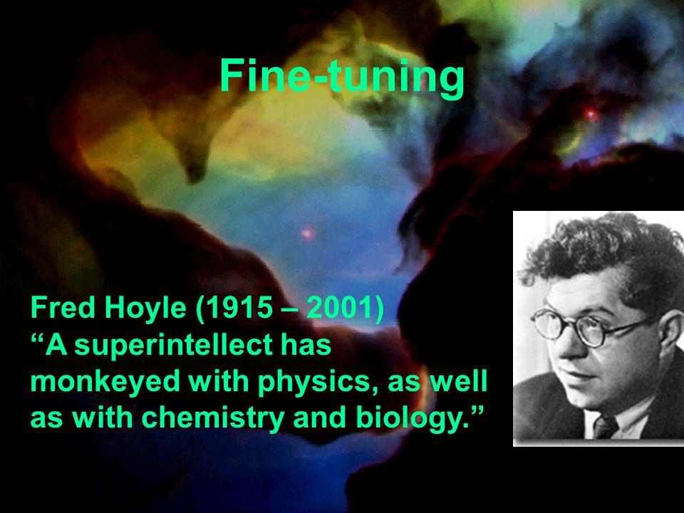 Fine-tuning Fred Hoyle (1915 – 2001)