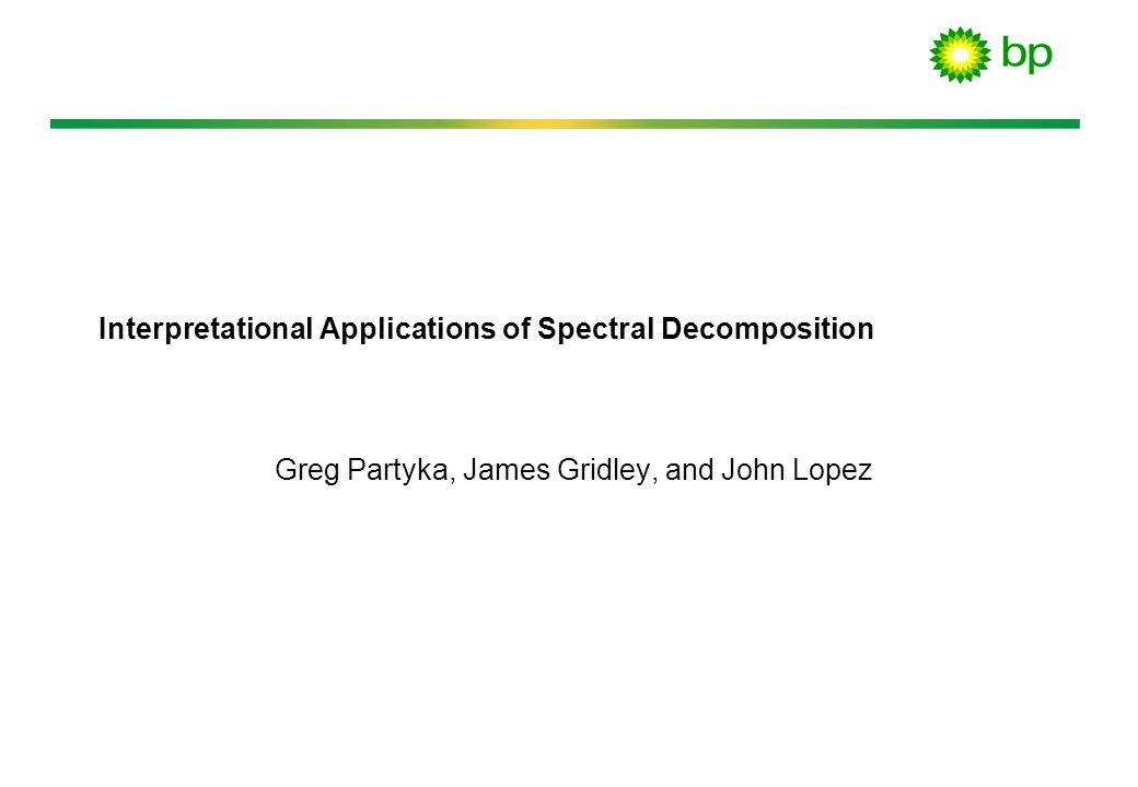 Interpretational Applications of Spectral Decomposition