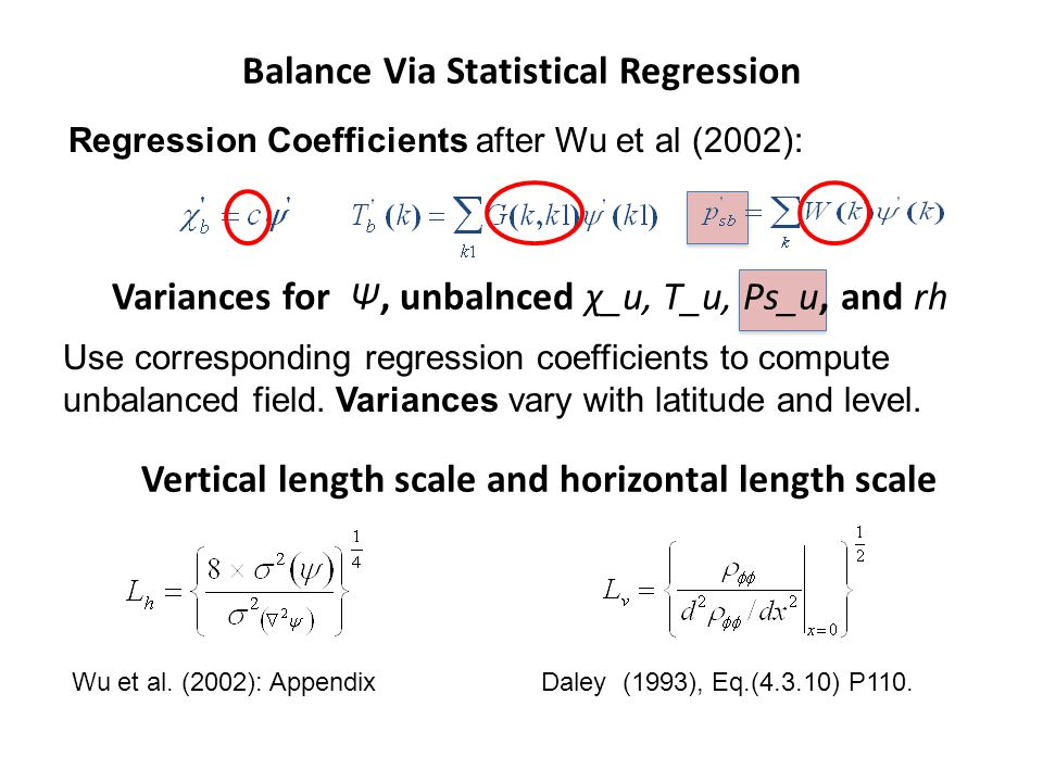 Balance Via Statistical Regression