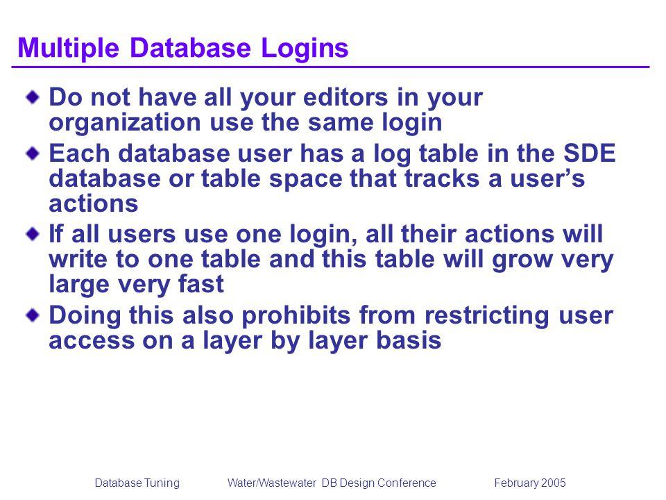 Multiple Database Logins