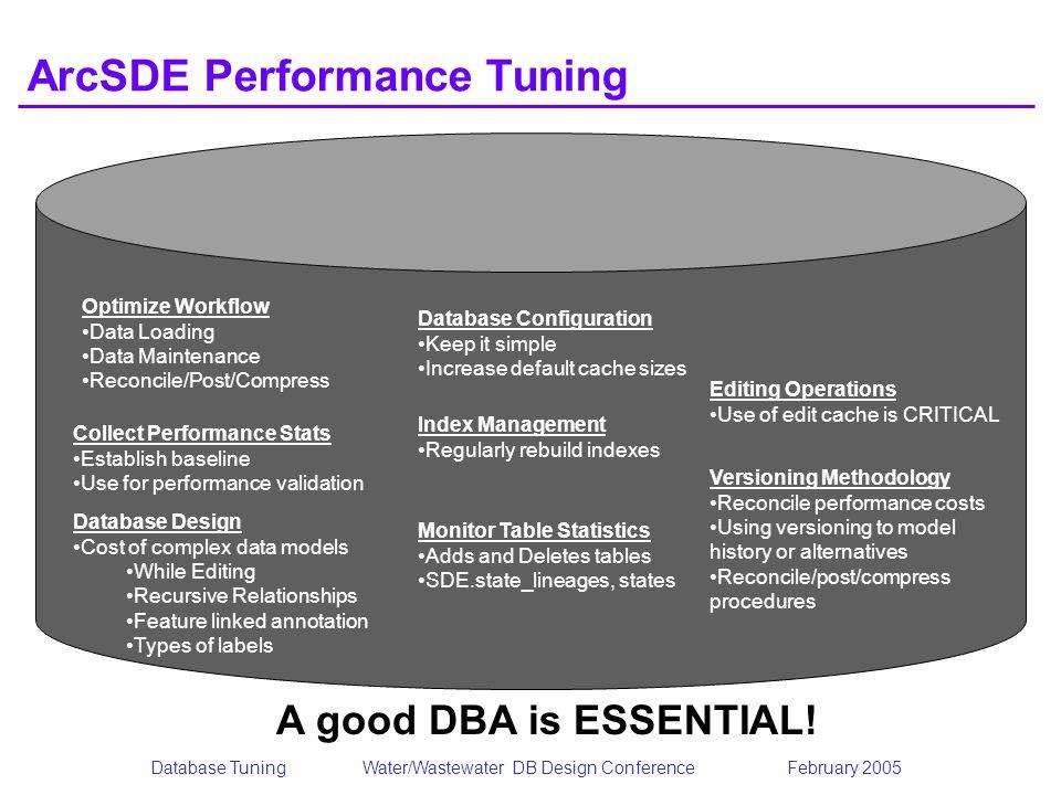 ArcSDE Performance Tuning