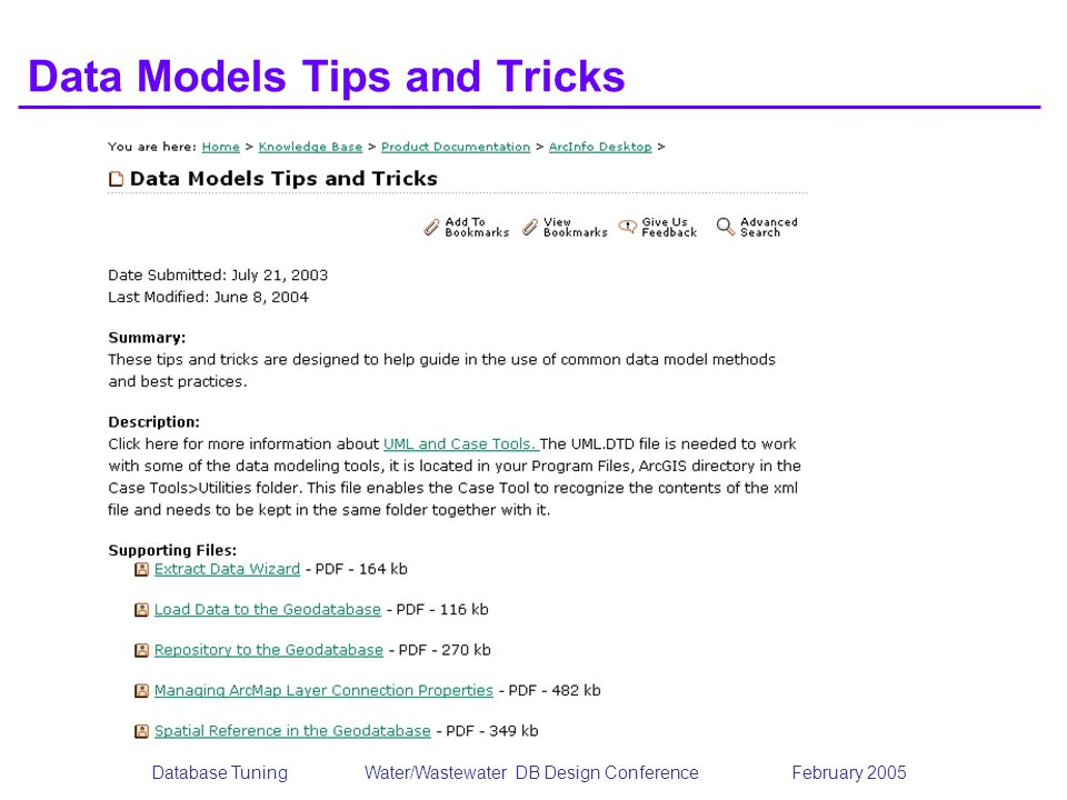 Data Models Tips and Tricks