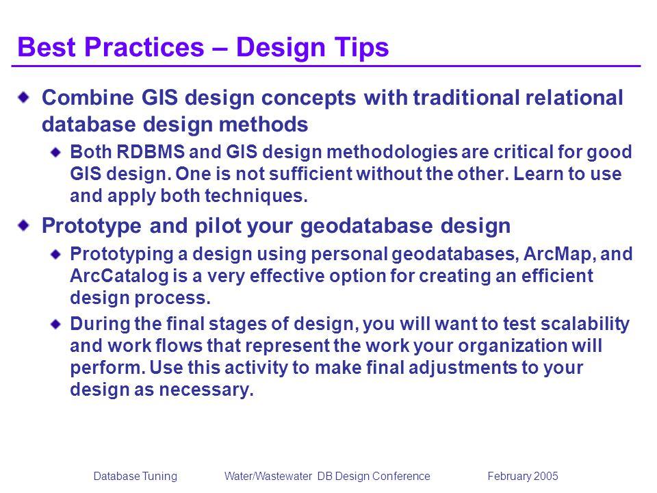 Best Practices – Design Tips