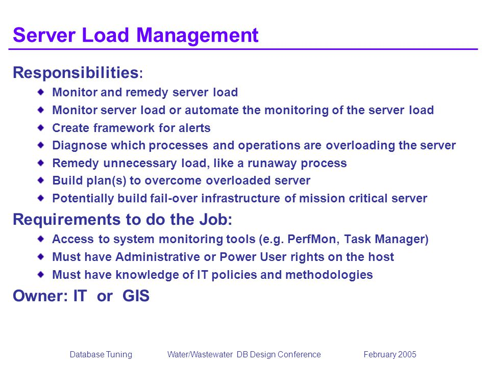 Server Load Management