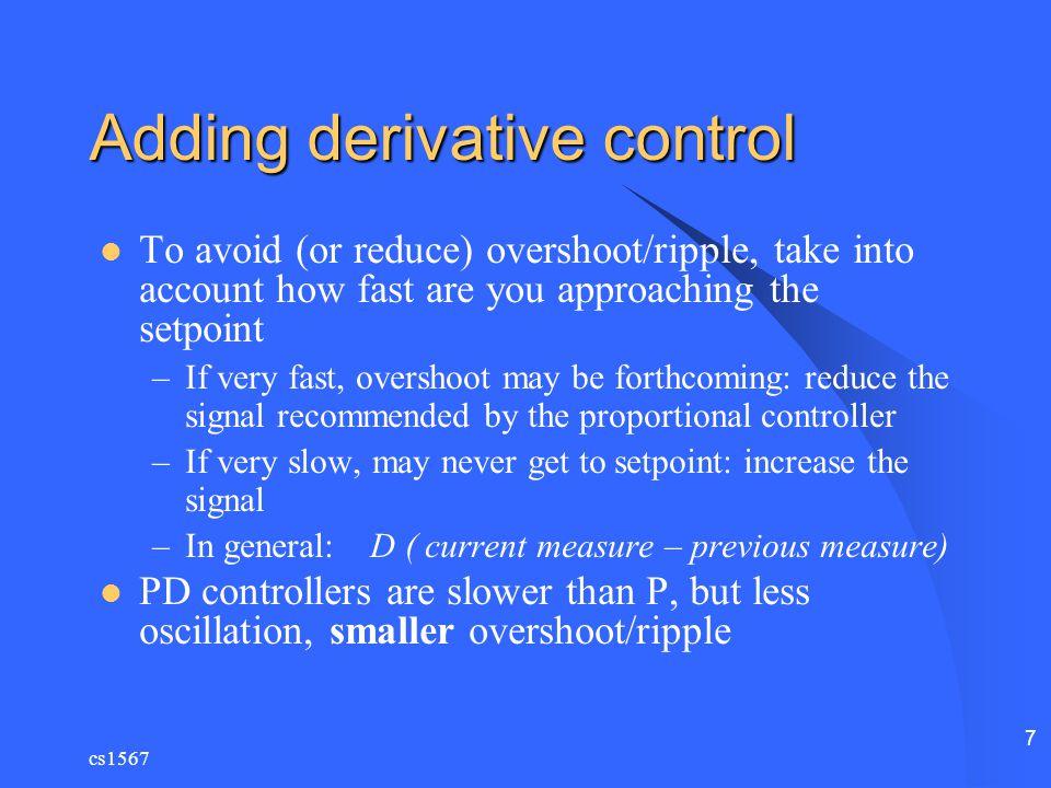 Adding derivative control