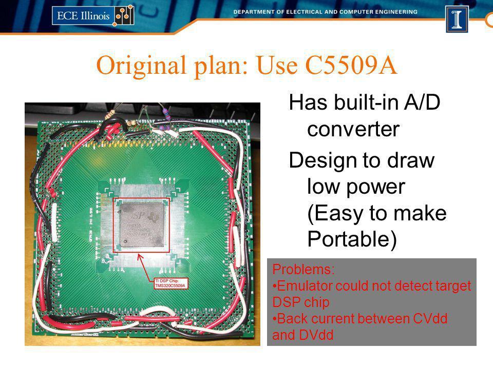Original plan: Use C5509A Has built-in A/D converter