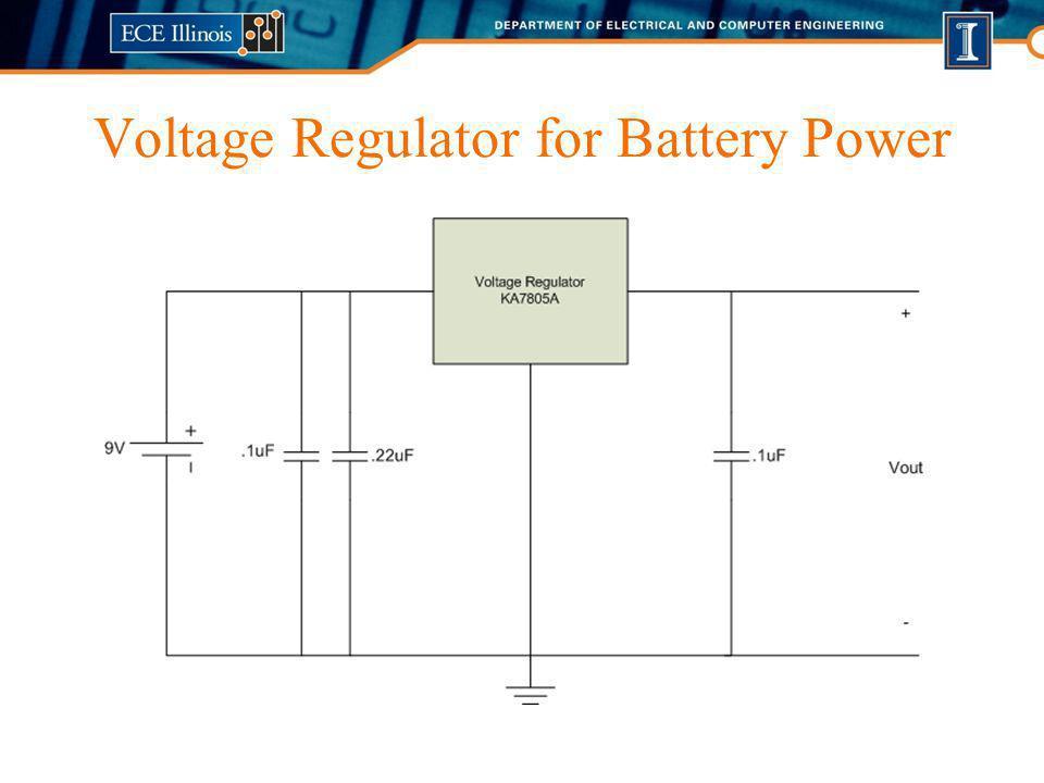 Voltage Regulator for Battery Power
