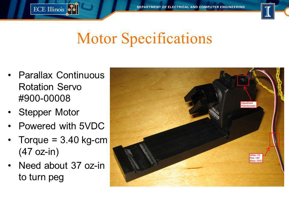 Motor Specifications Parallax Continuous Rotation Servo #900-00008
