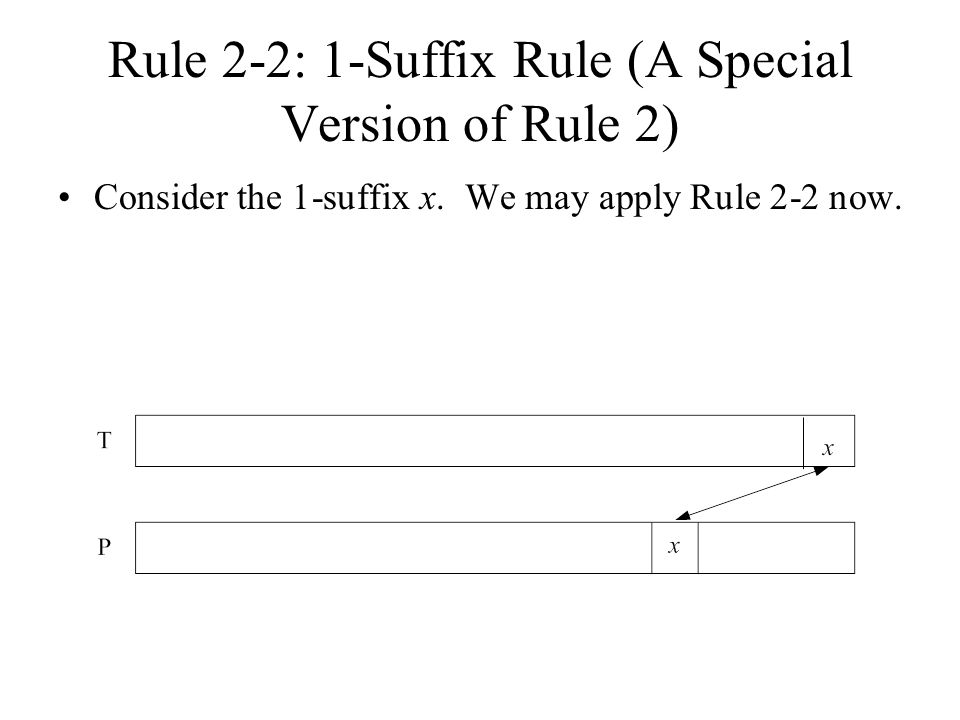 Rule 2-2: 1-Suffix Rule (A Special Version of Rule 2)