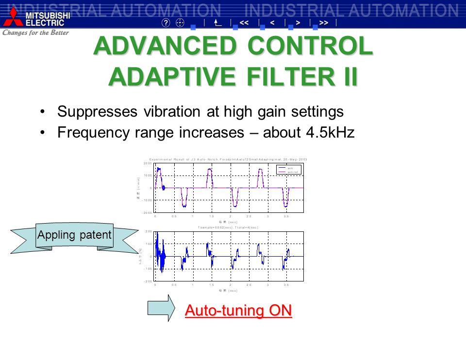 ADVANCED CONTROL ADAPTIVE FILTER II