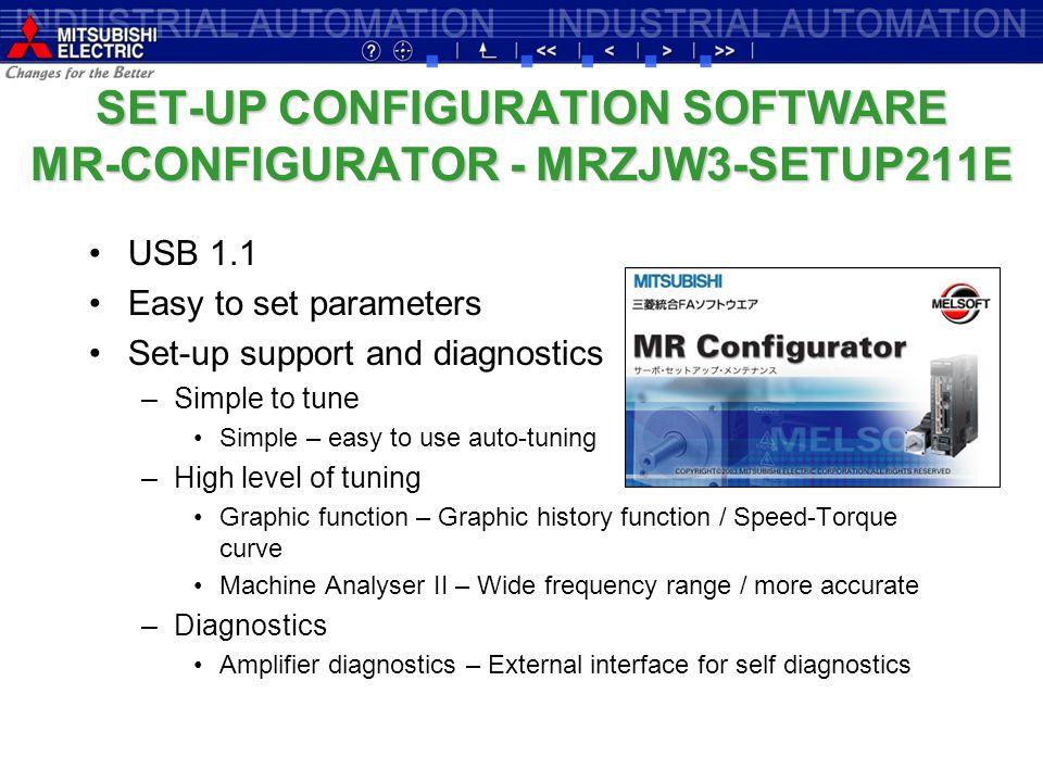 SET-UP CONFIGURATION SOFTWARE MR-CONFIGURATOR - MRZJW3-SETUP211E