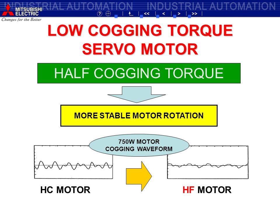 LOW COGGING TORQUE SERVO MOTOR