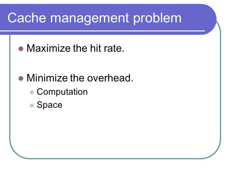 Cache management problem