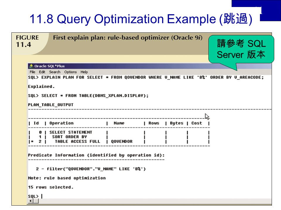 11.8 Query Optimization Example (跳過)
