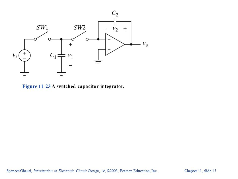 Figure A switched-capacitor integrator.