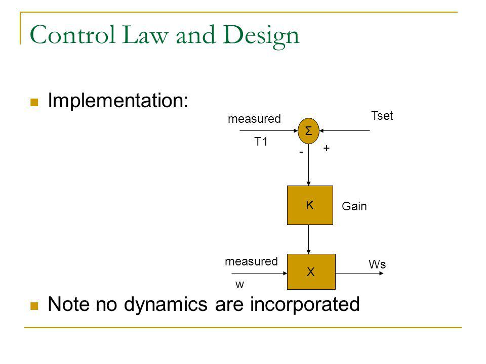 Control Law and Design Implementation:
