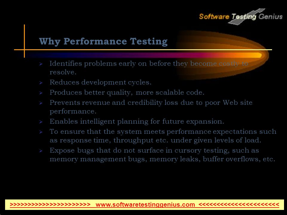 Why Performance Testing