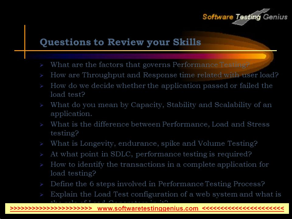 Questions to Review your Skills